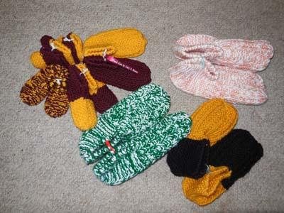 picture of knit slippers